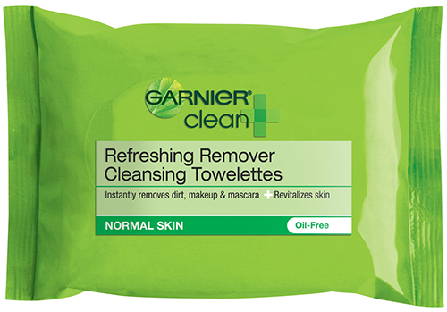 Garnier cleansing towelettes