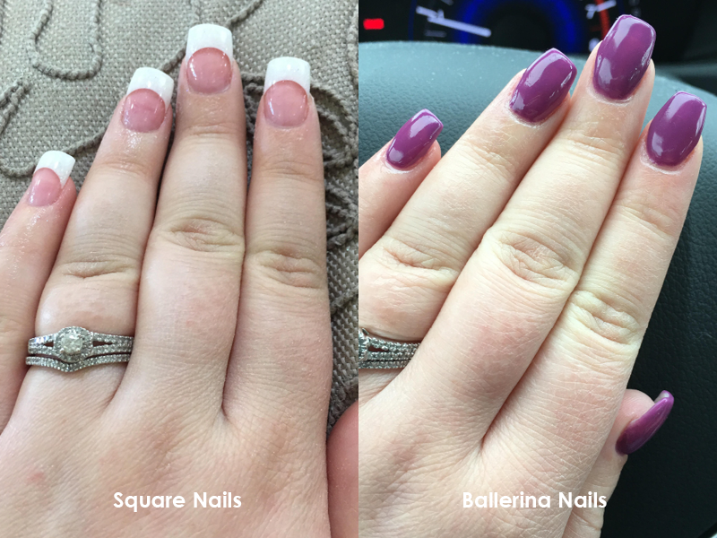 Ballerina (or Coffin) Style Nails – SassySweetSF